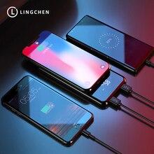 LINGCHEN 10000 mAh אלחוטי מטען כוח בנק עבור iPhone LED תצוגת צ י אלחוטי מטען עבור סמסונג s8 8000 10000 mAh powerBank