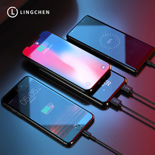 LINGCHEN 10000mAh Wireless Charger Power Bank for iPhone LED Display Qi Wireless Charger for Samsung 8000 10000 mAh PowerBank(China)