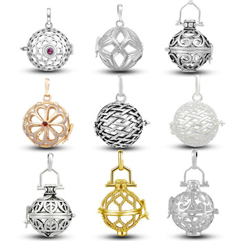 EUDORA 20mm Bass Harmony bola Locket Cage 9 mixed style Cages for Aromatherapy locket Pendant DIY Jewelry Findings & Components