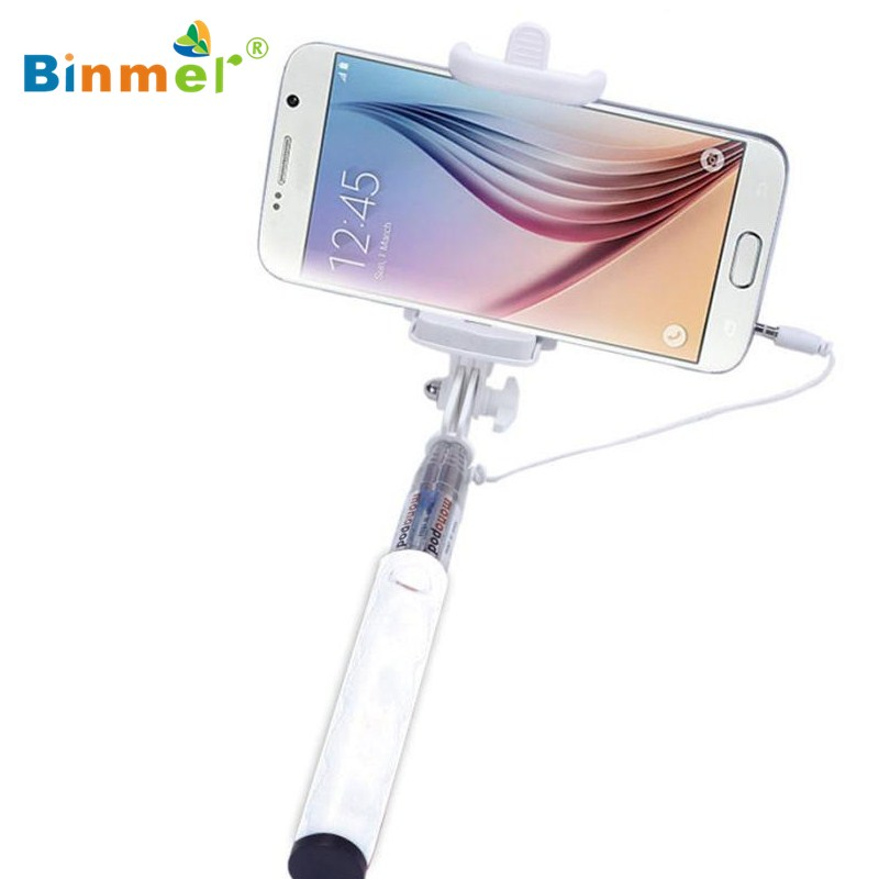 close to 18cm monopod audio cable wired selfie stick extendable sefie monopod. Black Bedroom Furniture Sets. Home Design Ideas