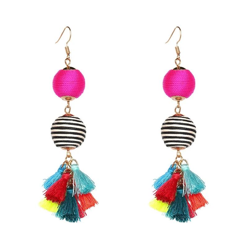 Beaded Turquoise Earrings Earrings handmade  Gift for women Beaded female jewelry Beaded jewelry Ball Earrings