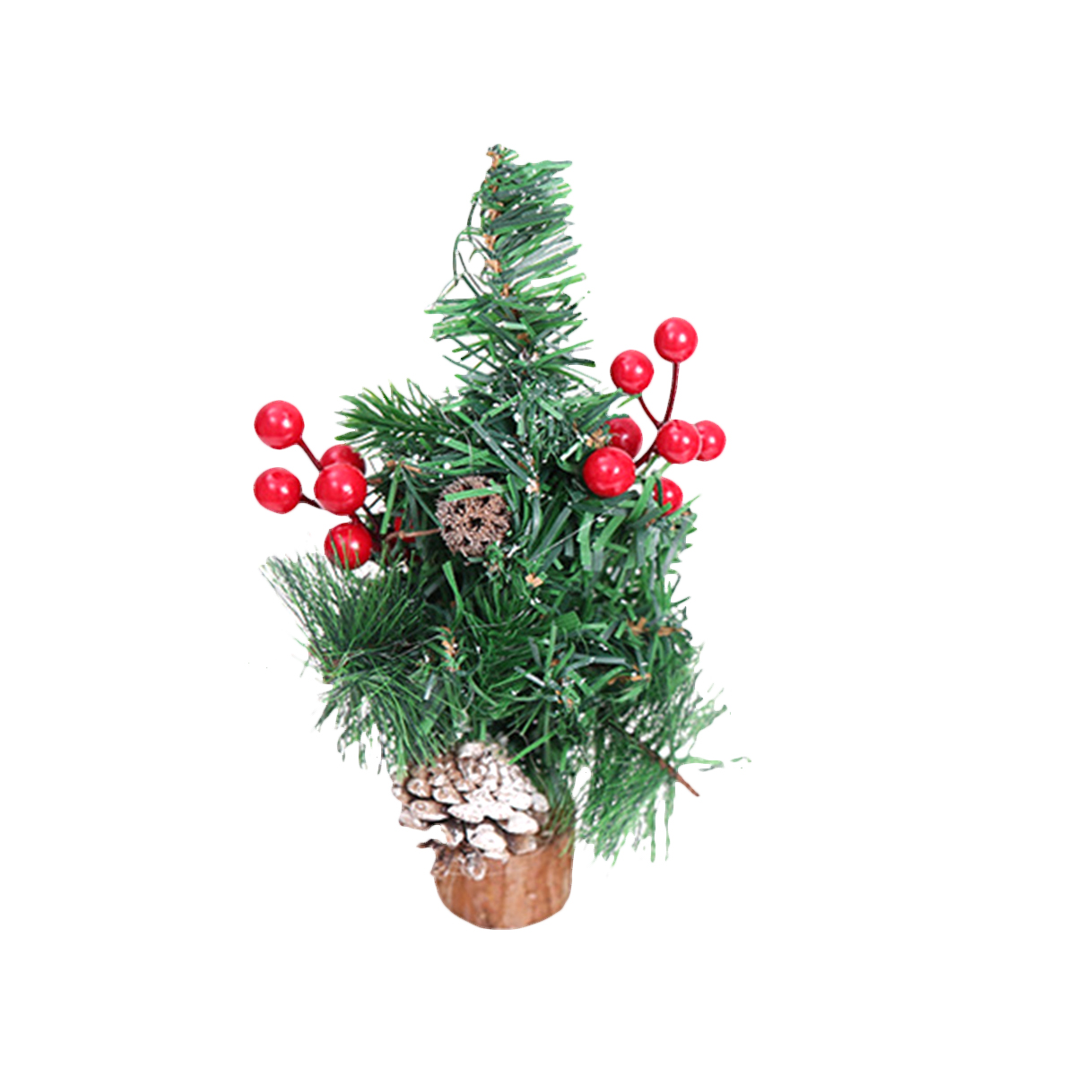 1pc Tabletop Small Christmas Tree with Wood Base Desktop ...