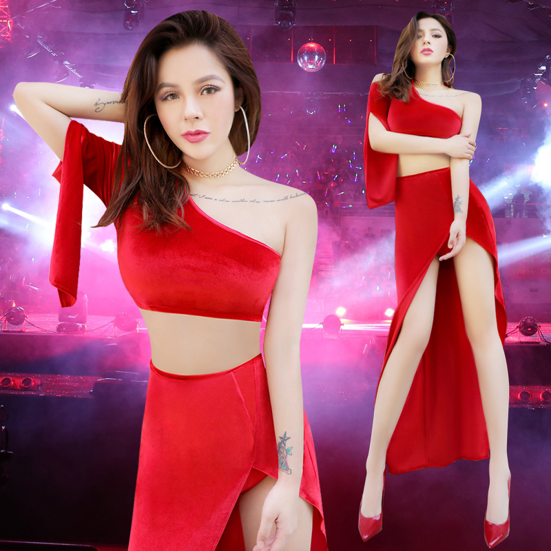 new sexy fashion nightclub dj costumes Valentines Day bar ds singer club performance clothing women freeshipping hot sale