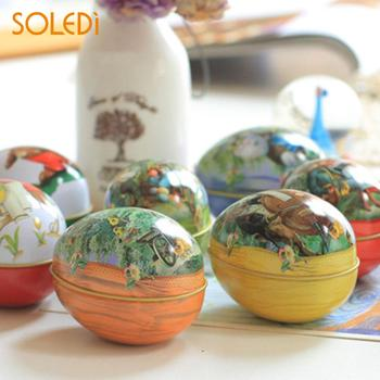 SOLEDI Bonbonniere Case Color Random Lovely Candy Tin Easter Eggs Iron Trinket decoracion de fiestas y eventos party decoration image