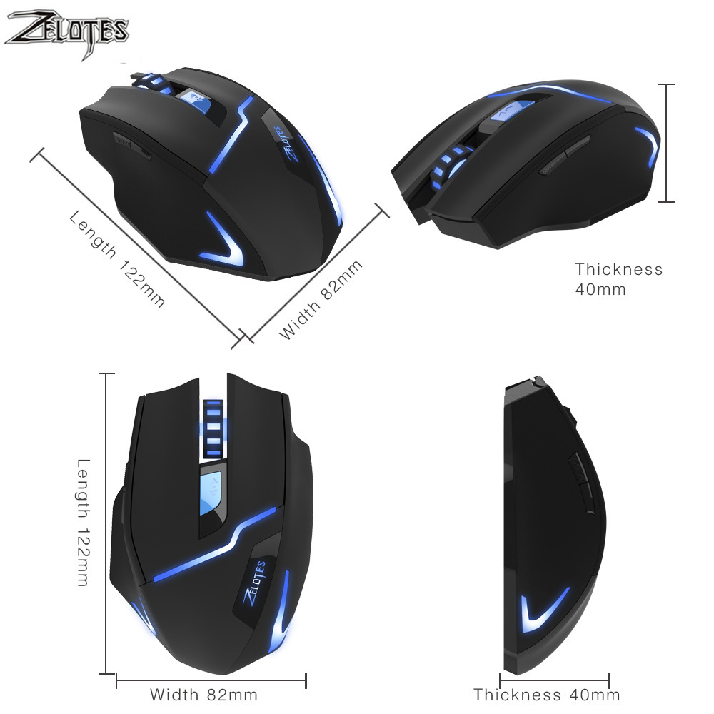 Image 3 - ZEALOT F 16 Optical 2400 DPI Wireless Gaming Mouse 2.4 GHz Portable Game Mice with USB Receiver for Computer PC Laptop-in Mice from Computer & Office