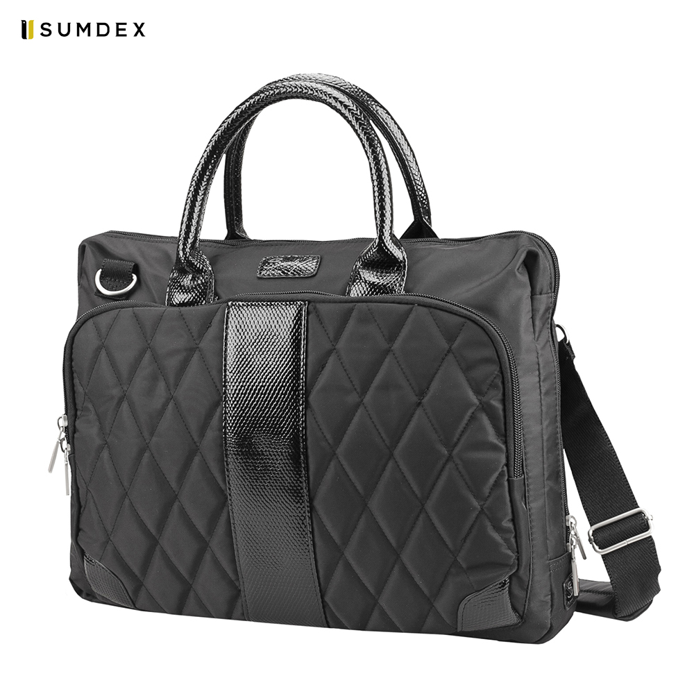 Фото - Laptop Bags & Cases Sumdex SUMPON136BK for laptop portfolio Accessories Computer Office for male female 2017 hot handbag women casual tote bag female large shoulder messenger bags high quality pu leather handbag with fur ball bolsa