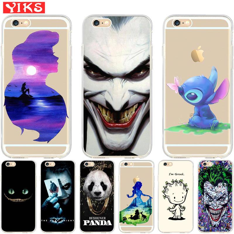 Luxury Mermaid Joker Panda Coque for iPhone X XR XS Max 9