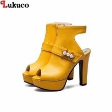 2018 summer platform shoes Lukuco women pumps CN plus size 37 38 39 40 41 42 43 44 45 46 47 48 49 custom handmade lady sandals