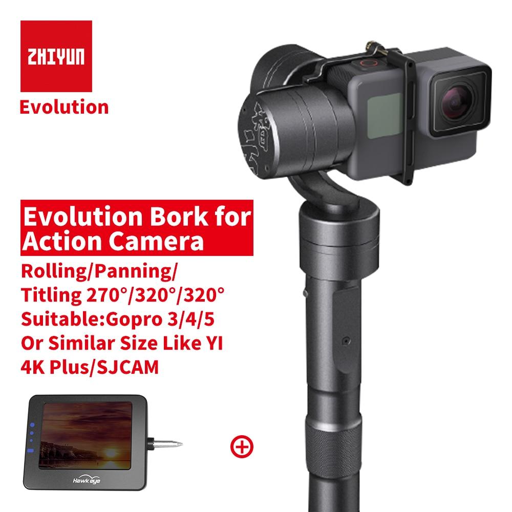 Zhiyun Z1 EVOLUTION 3 axes cardan caméra d'action stabilisateur de poche caméra sport stabilisateur pour Gopro hero xiaoyi YI 4 K Plus