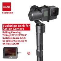 Zhiyun Z1 EVOLUTION 3 Axis Gimbal Action Camera Handheld Stabilizer Sport Camera Steadycam For Gopro Hero