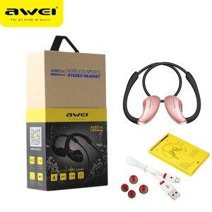 Image 5 - AWEI A885BL APT X kablosuz bluetooth kulaklık spor kulak kancası HiFi Stereo bas kayıpsız ses NFC hızlı Connet şarj