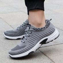 7f612e097 2019 الرجال أحذية رياضية العلامة التجارية حذاء كاجوال شبكة حذاء مسطح الربيع  تنفس عدم الانزلاق أحذية