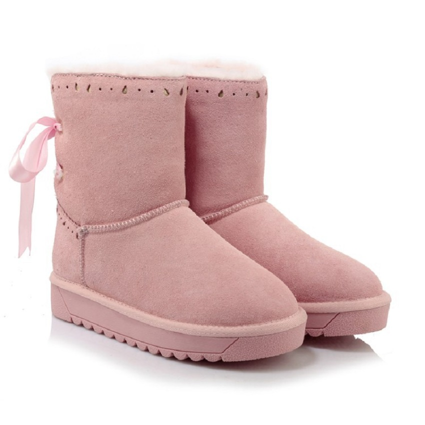 New Arrival Hot Sale Women Boots Ribbon With Solid Soft Cute Women Snow Boots Round Toe Flat With Wool Shoes Free Shipping XW-62 2017 new arrival hot sale women boots solid bowtie slip on soft cute women snow boots round toe flat with winter shoes wsz31
