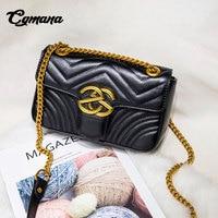 CGmana женские сумки 2018 Новая модная женская сумка знаменитая брендовая Дизайнерская кожаная женская сумка через плечо сумка Bolsos Mujer
