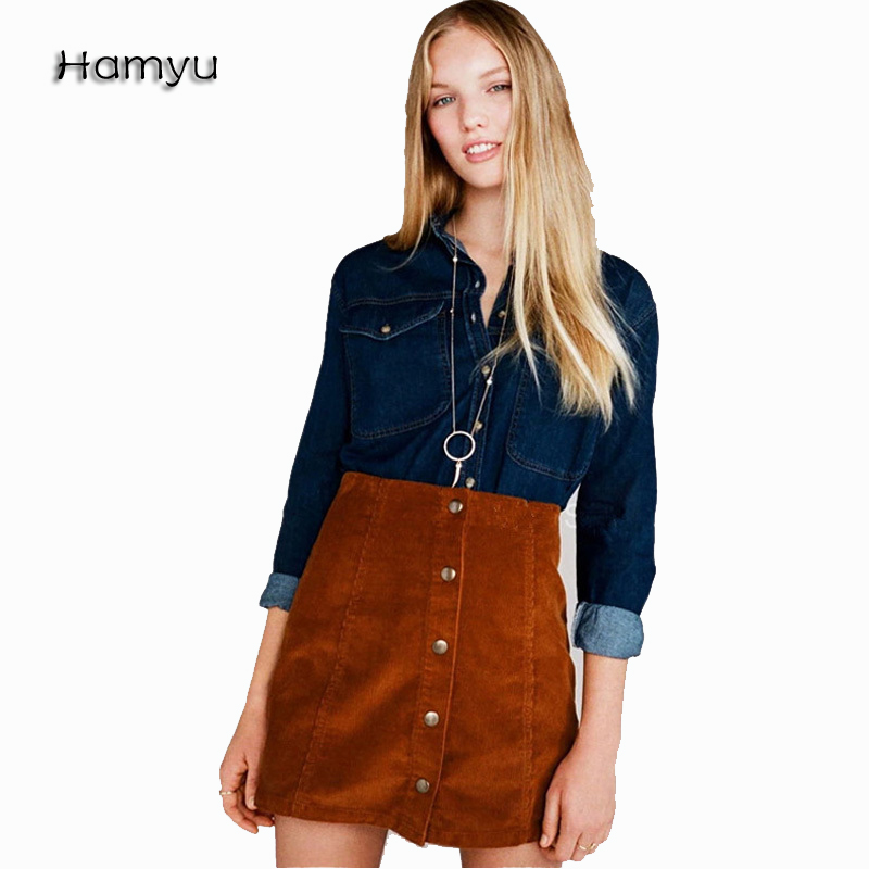 Online Get Cheap Button Front Skirt -Aliexpress.com | Alibaba Group