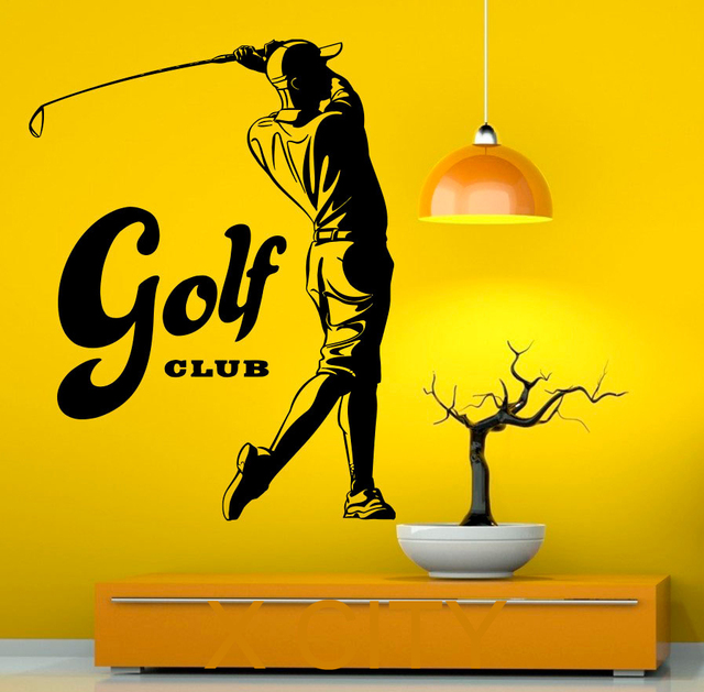 Golf pop sport decal wall vinyl sticker home interior removable bedroom home decor 57 x 73cm