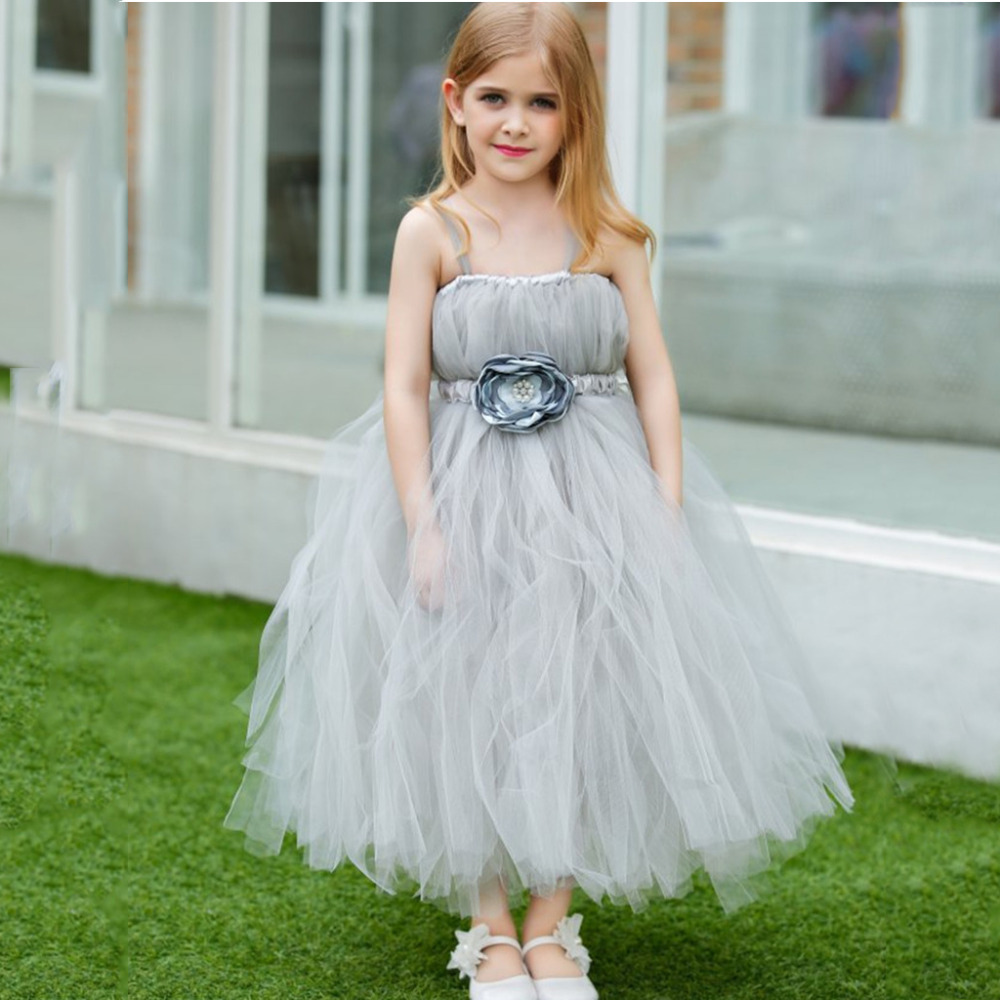 2018 New Flower Girl Dress Party Flower Girl Dress Formal Wedding Dress Long Birthday Dresses For Girls Children 3-12 years 2017 new style solid long princess flower girl dress for birthday party children formal clothes of 3 to 14 years old skd001425