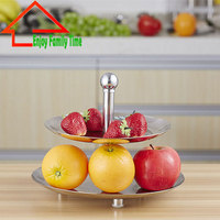 Sell Good Full Stainless Steel Fruit Rack Tray Holder Decor Decorative Fruit Bowl Candy Tray Silver