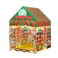 Baby Pretend Play House Toy Folding Supermarket Cashier Fabric Playtent for Children Educational Ball Pits Groceries Baby Tent