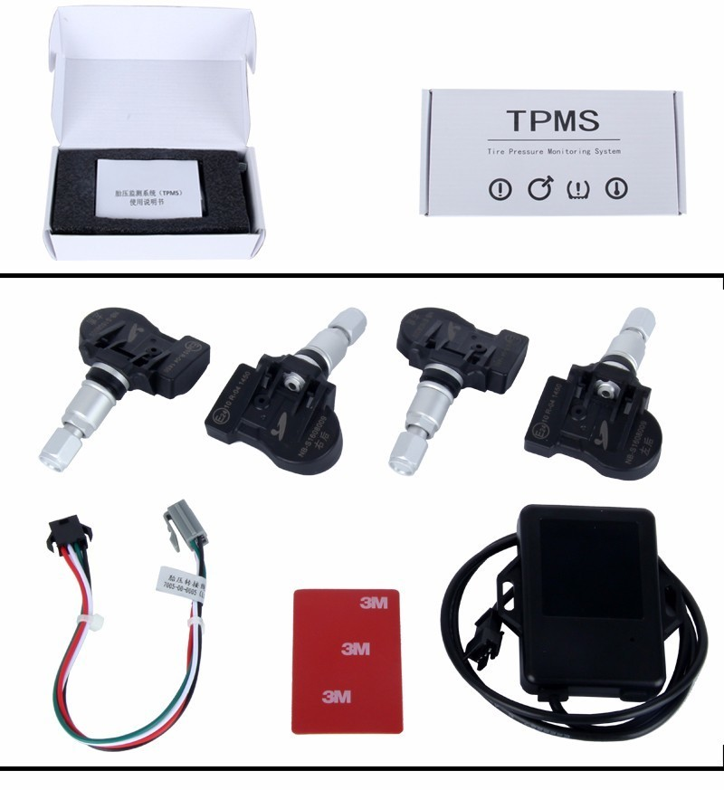 Universal built-in TPMS Car Tire Pressure Monitoring System Car Tire Diagnostic-tool with Mini Inner Sensor tire with inner 2pcs mfr mtt001
