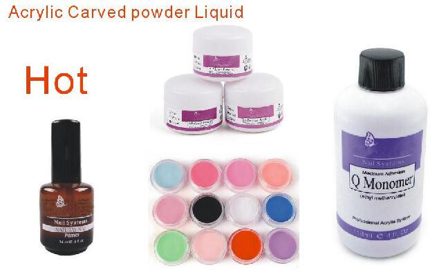 Bemlp Nail Art Acrylic Powder Polymer Q Monomer Liquid Carved Pen Primer Uv Gel Crystal