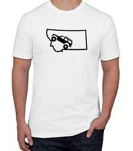 2019 Nieuwe Zomer Slim Tee Shirt Jeep Cherokee Xj Montana State Decal T-shirt Fashion
