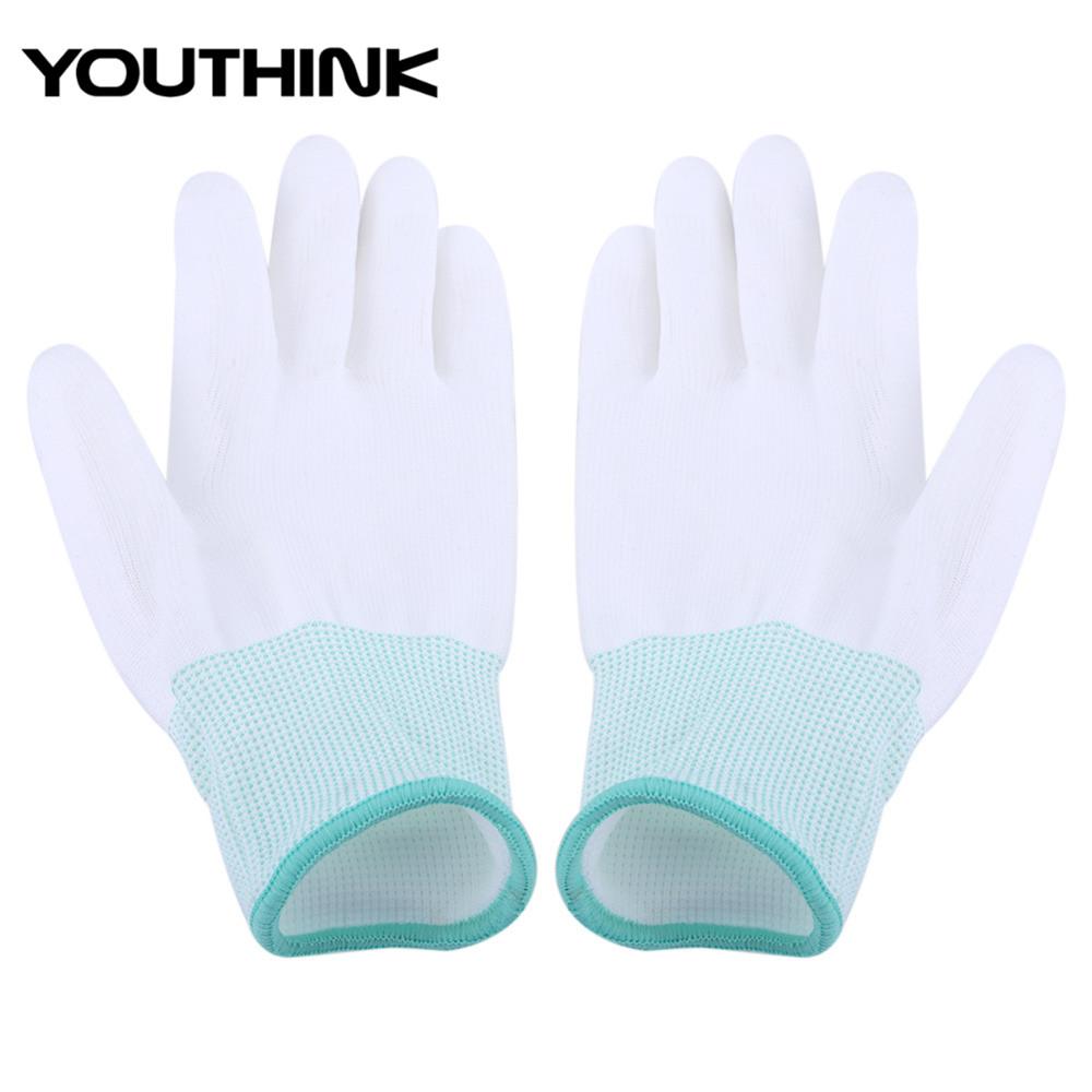 Antiskid-Glove Computer-Phone-Repair Anti-Static For PC S-L Finger-Part Pu-Coated Knitted