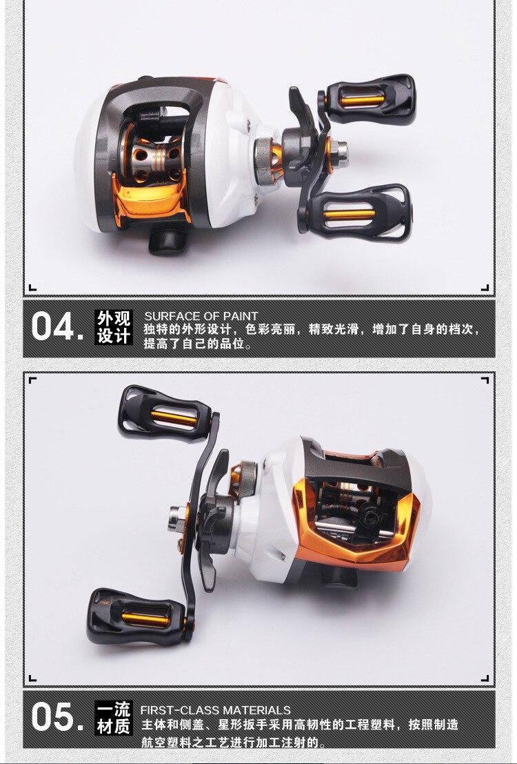 Fishing Reel Esquerda Direita Handle Horizontal Roda Freio Magnético