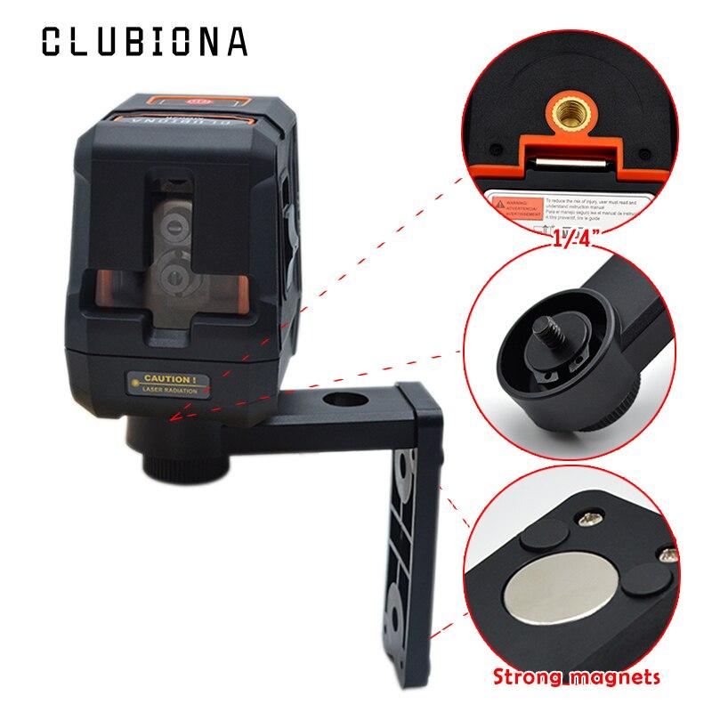 Protezione anticaduta Palm accurate croce laser rosso linee di livello laser autolivellante ricevitore OK 360 rotante con supporto magnetico