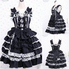 Kunden zu bestellen! V-1089 sleeveless Cotton Gothic Lolita Kleid schuluniform Halloween Cosplay Cocktailkleid