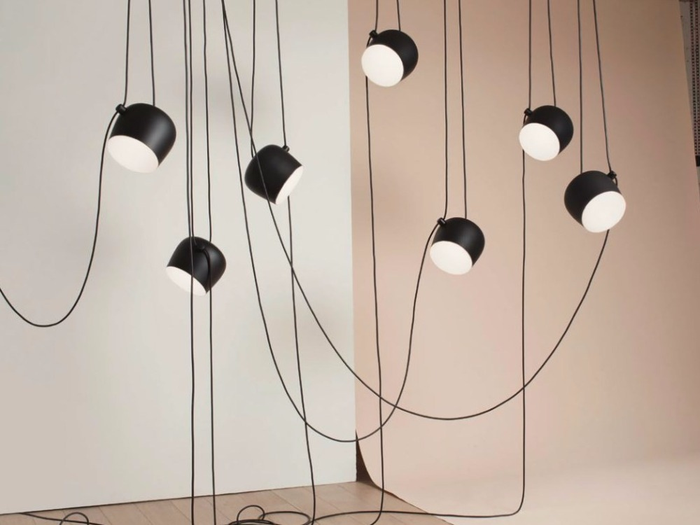 blackwhite shade modern creative pendant lamp fashion nordic dining table hanging light fixture diy cheap office lighting