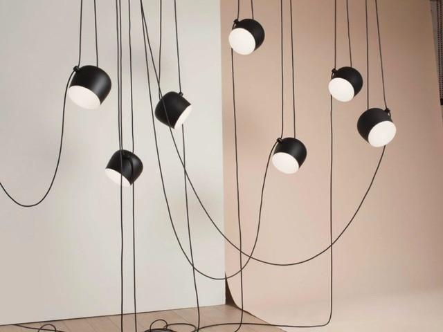 Noir blanc ombre moderne creative pendentif lampe de mode nordique