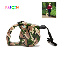 5m Round Rope Pet Dog Automatic Retractable Leash Camouflage Models Walking Leads For Small And Medium