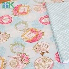 DIY sewing fabric Slanting 100 stripe cotton cloth bedding baby cotton cloth rose eiffel tower 160