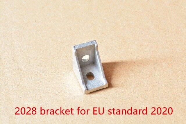 2028 bracket corner fitting angle aluminum 20mmx28mm corner bracket fastener for EU standard 2020 aluminum profile 1pcs