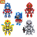 LOZ Classic Anime Movie Robot Optimus Prime Megatron Bumblebee Building Blocks Autobot Model Assemble Bricks Toys