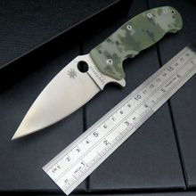 High quality Custom C101 G10 handle 9 cr13 steel blade folding knife outdoor camping survival tool Tactical +MMMMMMM