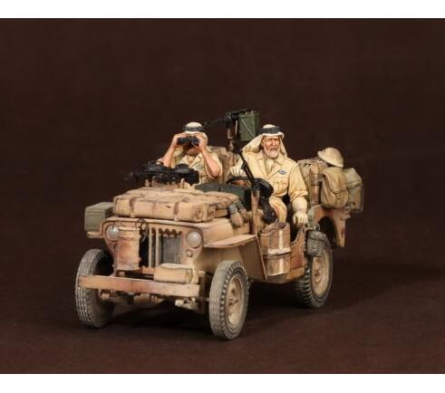 1/35 North Africa Crew (2 Figures) NOT HAVE CAR   Resin Model Miniature  Figure Unassembly Unpainted