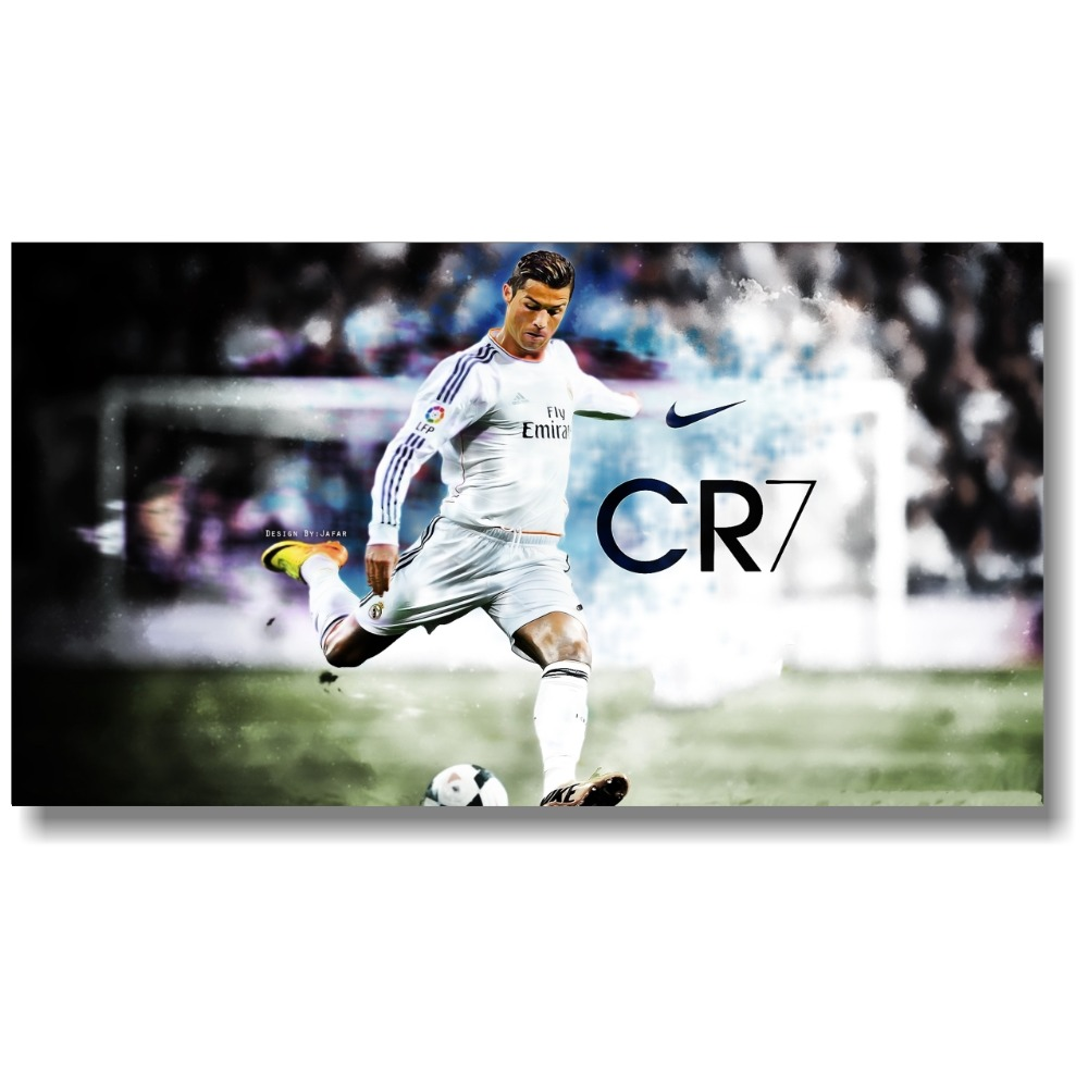Cristiano Ronaldo Football Star Player Print Art Silk Poster