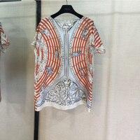 Топы с короткими рукавами и принтом «позиционирующий шелк», женские атласные футболки с короткими рукавами 1
