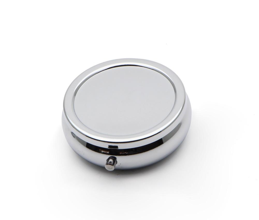 металл таблетки коробки для DIY медицина организатор контейнер серебристо-1 отделение с эпоксидной смолы