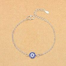 Женский браслет из серебра 925 пробы с Шармами