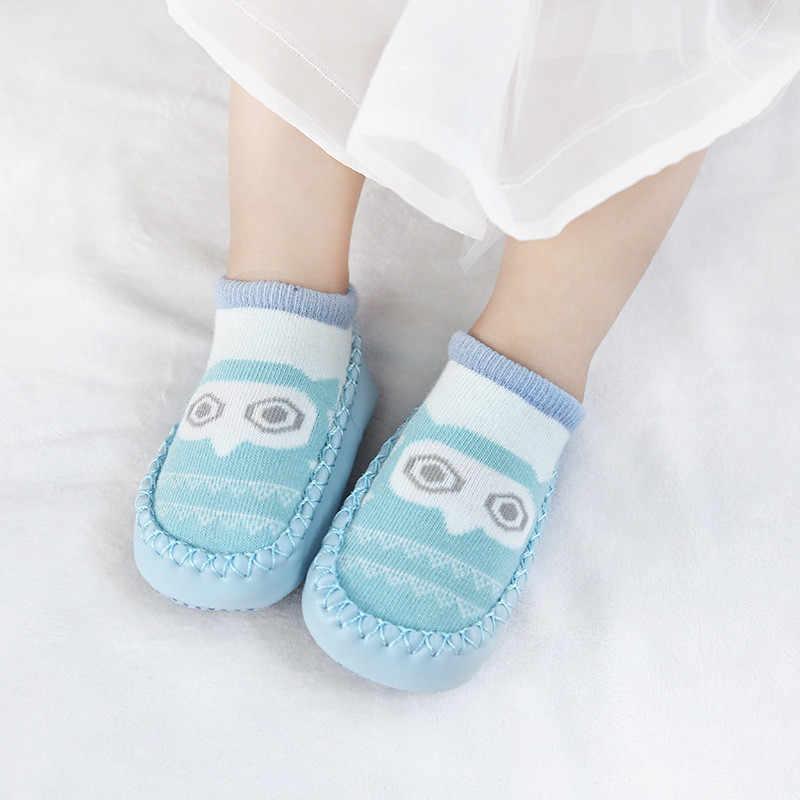 2019 носки для новорожденных с резиновой подошвой, носки для новорожденных, осенне-зимние детские носки-тапочки, противоскользящая обувь, носки с мягкой подошвой