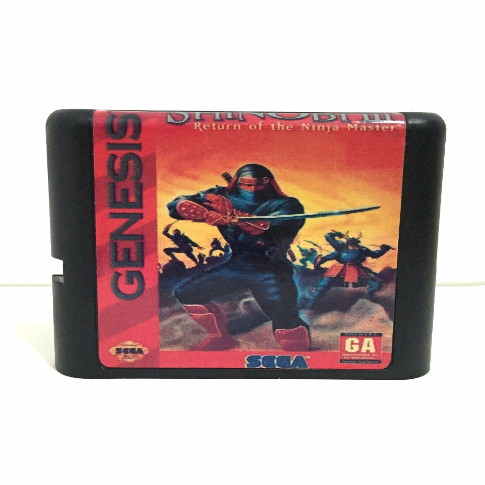 Top quality 16 bit Sega MD game Cartridge for Megadrive Genesis system --- Shinobi III Return of the Ninja Master image