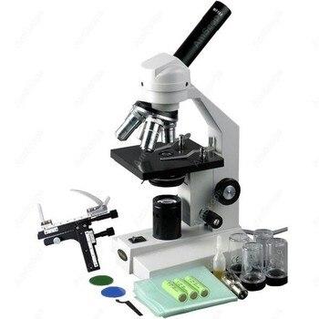طالب LED البيولوجية مجمع المجهر-AmScope لوازم 40X-2000X اللاسلكي طالب LED البيولوجية مجمع المجهر