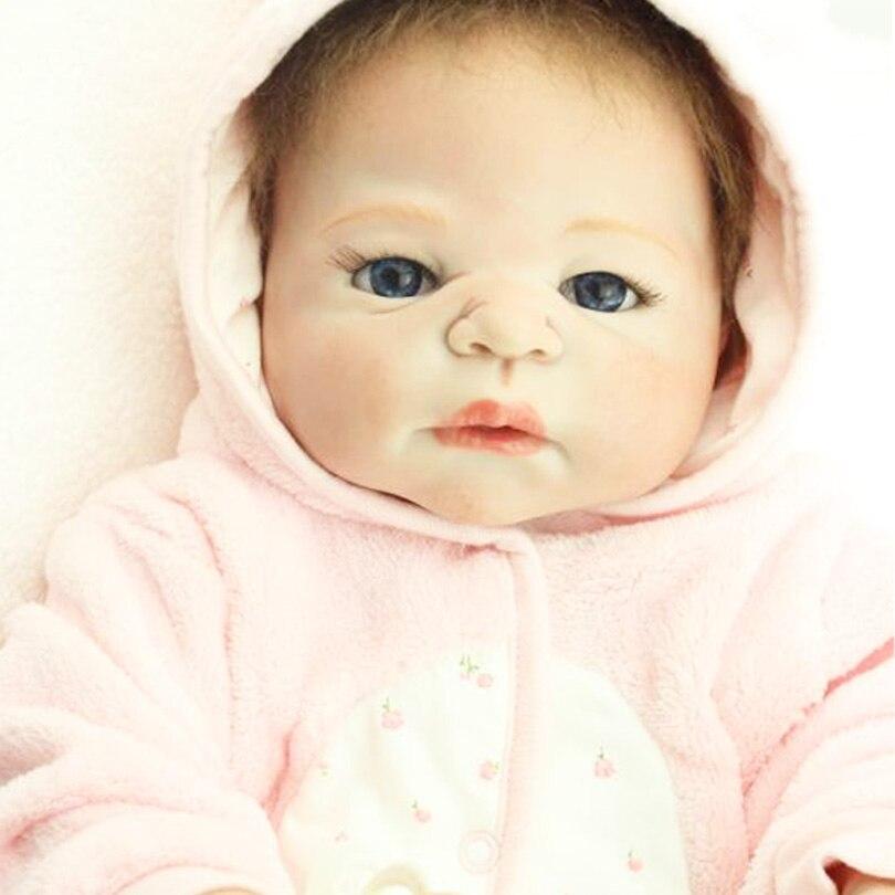 55cm Tam Bədən Silikon Yenidoğulmuş Qız Qız Doll Oyuncaq - Kuklalar və kuklalar üçün aksesuarlar - Fotoqrafiya 6