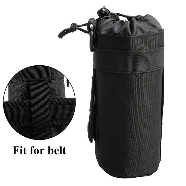 Tactical Water Bottle Pouch Foldable MOLLE Bike Water Bottle Holder Attachment Carrier for Backpack Waist bag Belt