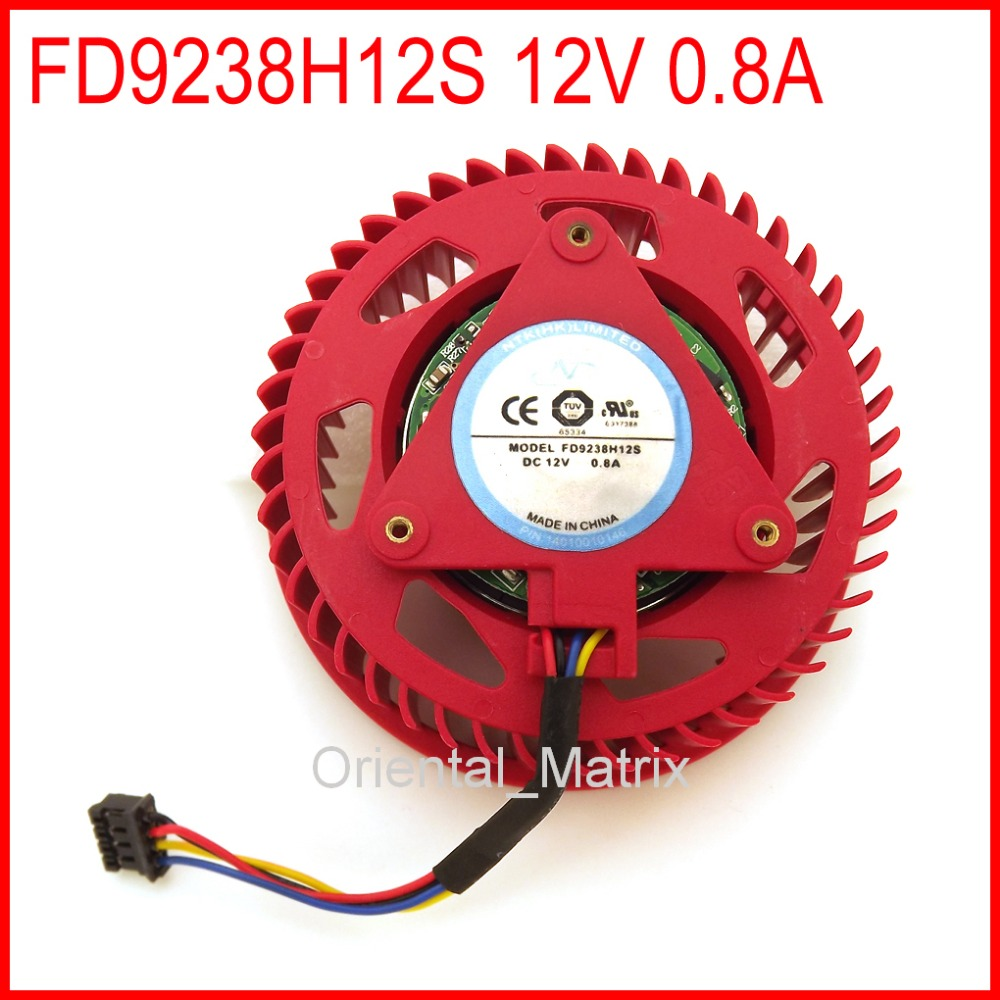 Free Shipping New NTK FD9238H12S 12V 0.8A For ATI HD5870 HD5970 Graphics Card Turbo Cooler Cooling Fan 4Pin 1pcs graphics video card vga cooler fan for ati hd5970 hd4870 hd4890 hd5850 hd5870 hd4890 hd6990 hd6970 hd7850 hd7990 r9295x