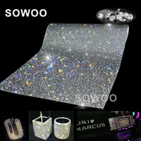 24 40 PC SS8 Glass Rhinestone Trim Crystal Beaded Applique Hotfix Iron On Strass Mesh Banding