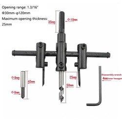 1 sztuk regulowane metalowe drewniane kółko frez wiertła zestaw do cięcia narzędzie do majsterkowania 30mm-120mm czarny normalny 30mm-200mm 30mm-300mm